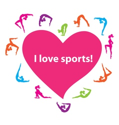 I love sports vector image