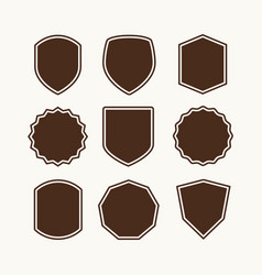 a set of shields for the logo vector image vector image