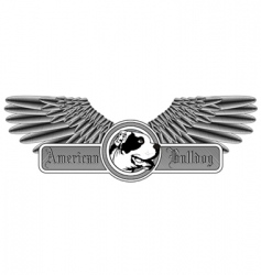 american bulldog logo vector image