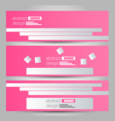 banner template abstract background vector image