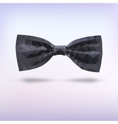 Black fashion bow tie of triangles vector