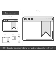 Bookmark line icon vector