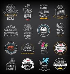 Buffet menu restaurant design all you can eat vector