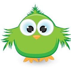 cartoon green sparrow vector image vector image