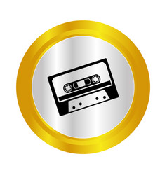 Cassette old music icon vector