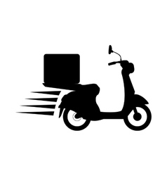 Contour fast food delivery icon vector
