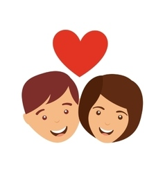 couple love relationship icon vector image vector image