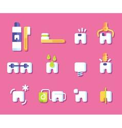 Dental health icons vector