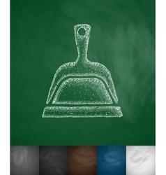 dustpan icon vector image