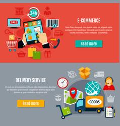 e-commerce horizontal banners vector image vector image