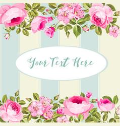 elegant vintage invitation card vector image vector image
