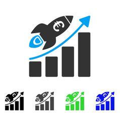 Euro success business start flat icon vector