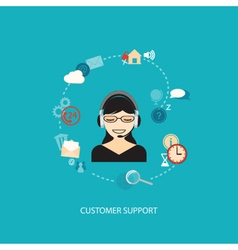 flat elements for support service vector image