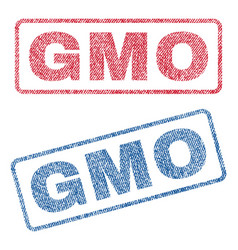 Gmo textile stamps vector