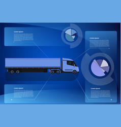 infographic banner cargo truck trailer vehicle vector image vector image