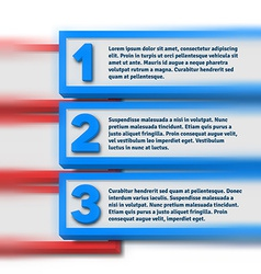 Infographics with blurred option bars vector image vector image