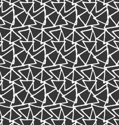 Inked overlapping triangles on black vector