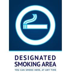 Label smoking area sticker vector image vector image