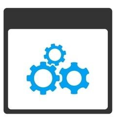 Mechanics Gears Calendar Page Toolbar Icon vector image vector image