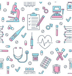 Medical seamless pattern clinic vector