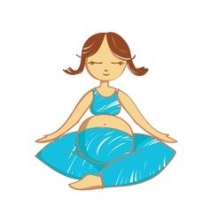 Meditating mother - vector