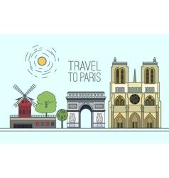 Paris Travel 08 A vector image