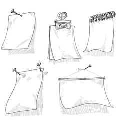 Pieces of paper for text sketch vector