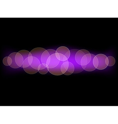 Purple bokeh background vector image