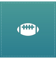Rugby flat icon vector image