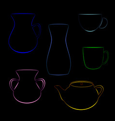 Tableware color vector