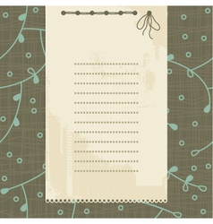 vintage document frame vector image vector image
