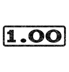 100 watermark stamp vector image