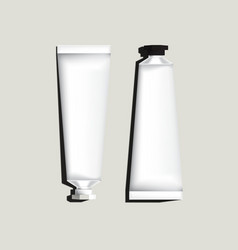 White aluminum tubes for packaging vector