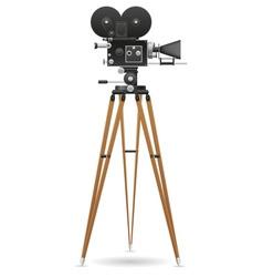 old movie camera 02 vector image