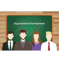 Organizational development program in vector