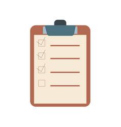 checklist flat design icon vector image