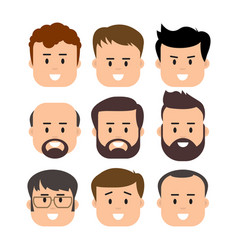 Men male human face vector