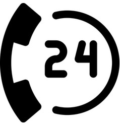 24 hours call vector image vector image