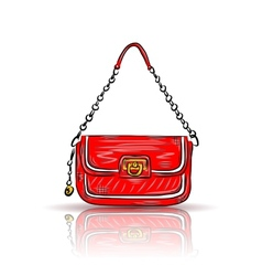 Red glamour bag vector