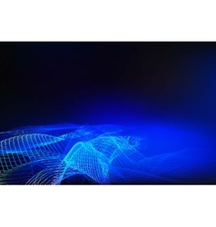 Abstract blue background of glowing lines vector