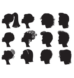 Hairstyle silhouettes vector