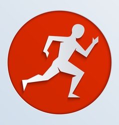 Run red paper vector