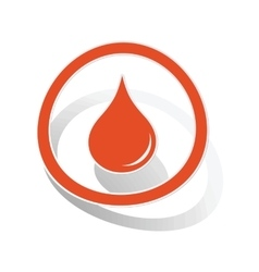 Water drop sign sticker orange vector