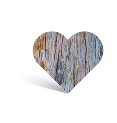 Texture of wooden pattern in heart shape vector