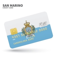 Credit card with san marino flag background for vector