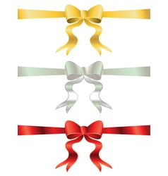 Holiday bows set3 vector