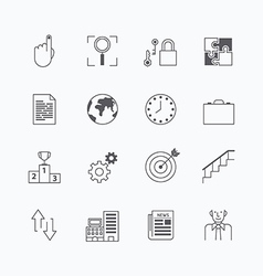 linear web icons set - business collection vector image
