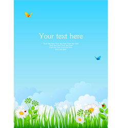 summer back with grass vector image