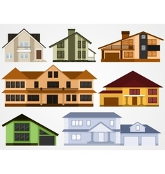Town house cottages vector