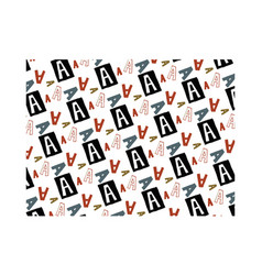a alphabet pattern background vector image vector image